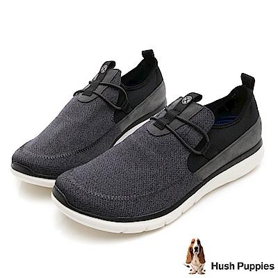 Hush Puppies SPEED 個性風休閒健走鞋-深灰