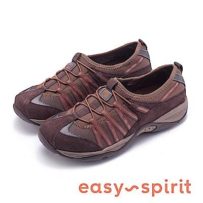 Easy Spirit EZRISE2 舒適彈性帶運動休閒鞋-咖啡