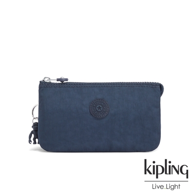 Kipling 中性碧海深藍三夾層配件包-CREATIVITY L