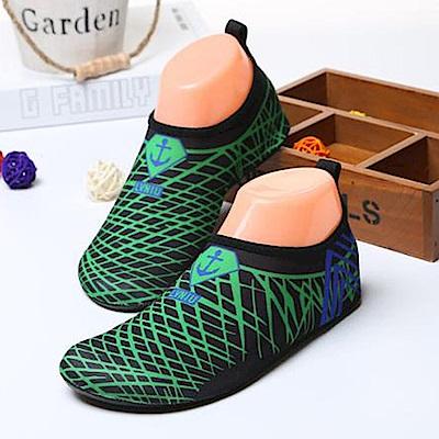 韓國KW美鞋館 網形水陸兩用速乾防滑鞋-綠色