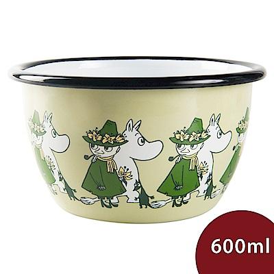 Muurla 嚕嚕米點心碗 一同出遊 淺綠 600ml 13.5cm