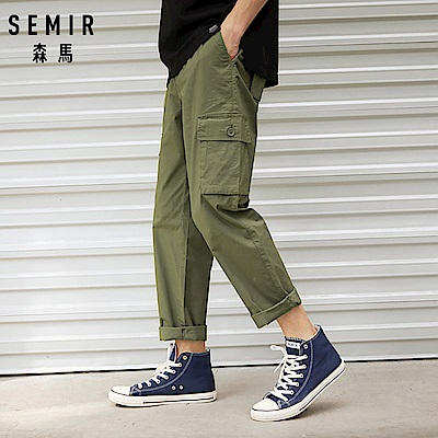 SEMIR森馬-大口袋率性舒適工作褲-男(3色)