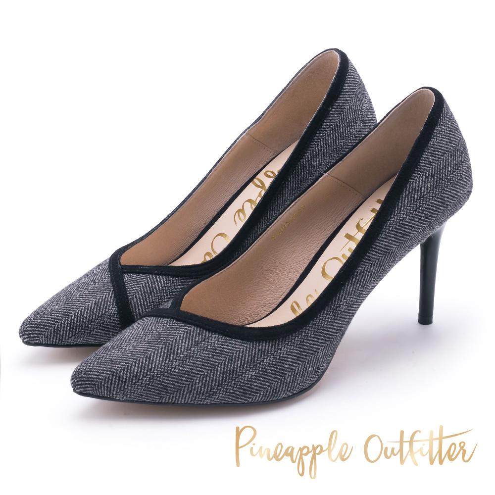 Pineapple Outfitter 極度舒適 布面尖頭高跟鞋-黑色