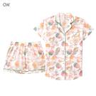 aimerfeel 短袖襯衫成套睡衣-米白色 -823266-OW