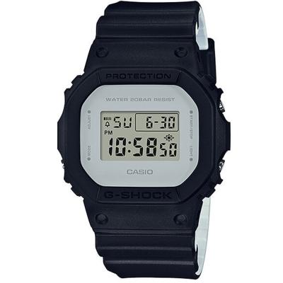 G-SHOCK經典潮流簡單數位設計概念休閒錶(DW-5600LCU-1)黑X灰42.8mm