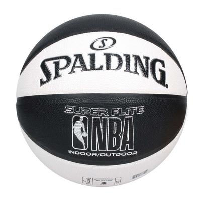 SPALDING NBA SUPER FLITE系列#7號合成皮籃球-7號球 斯伯丁 SPA76351 白黑