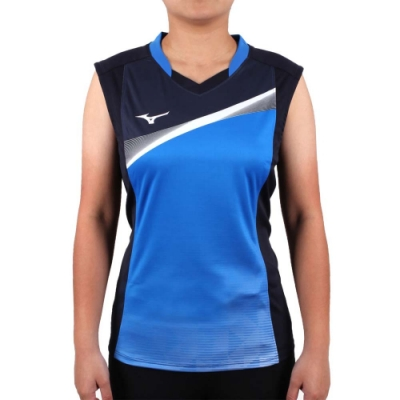 MIZUNO 2017企業排球聯賽 女排球背心-無袖上衣 企排 美津濃 丈青藍白