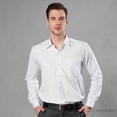 ROBERTA諾貝達 台灣製 吸濕速乾 商務條紋長袖襯衫 白色