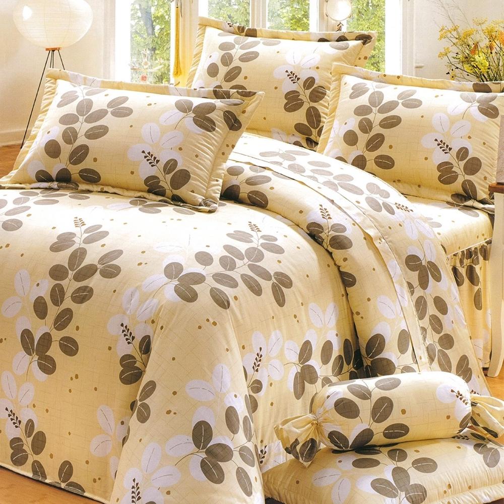 Carolan 夜裡花 雙人精梳棉三件式床包枕套組