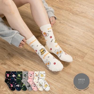 阿華有事嗎  韓國襪子 滿版三麗鷗英文中筒襪  韓妞必備 正韓百搭純棉襪