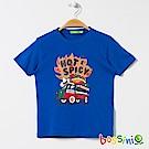 bossini男童-印花短袖T恤15淡藍