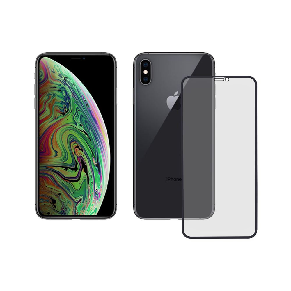 LUCCIDA Apple iPhone XS Max 霧面冷雕玻璃貼【3D滿版】