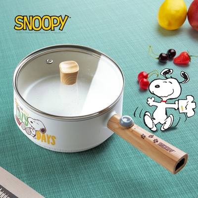【SNOOPY 史努比】吃貨系列-S18雙層防燙不沾烹飪鍋
