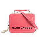 MARC JACOBS 經典THE BOX 23雙拉鍊手提斜背兩用包-草莓粉紅