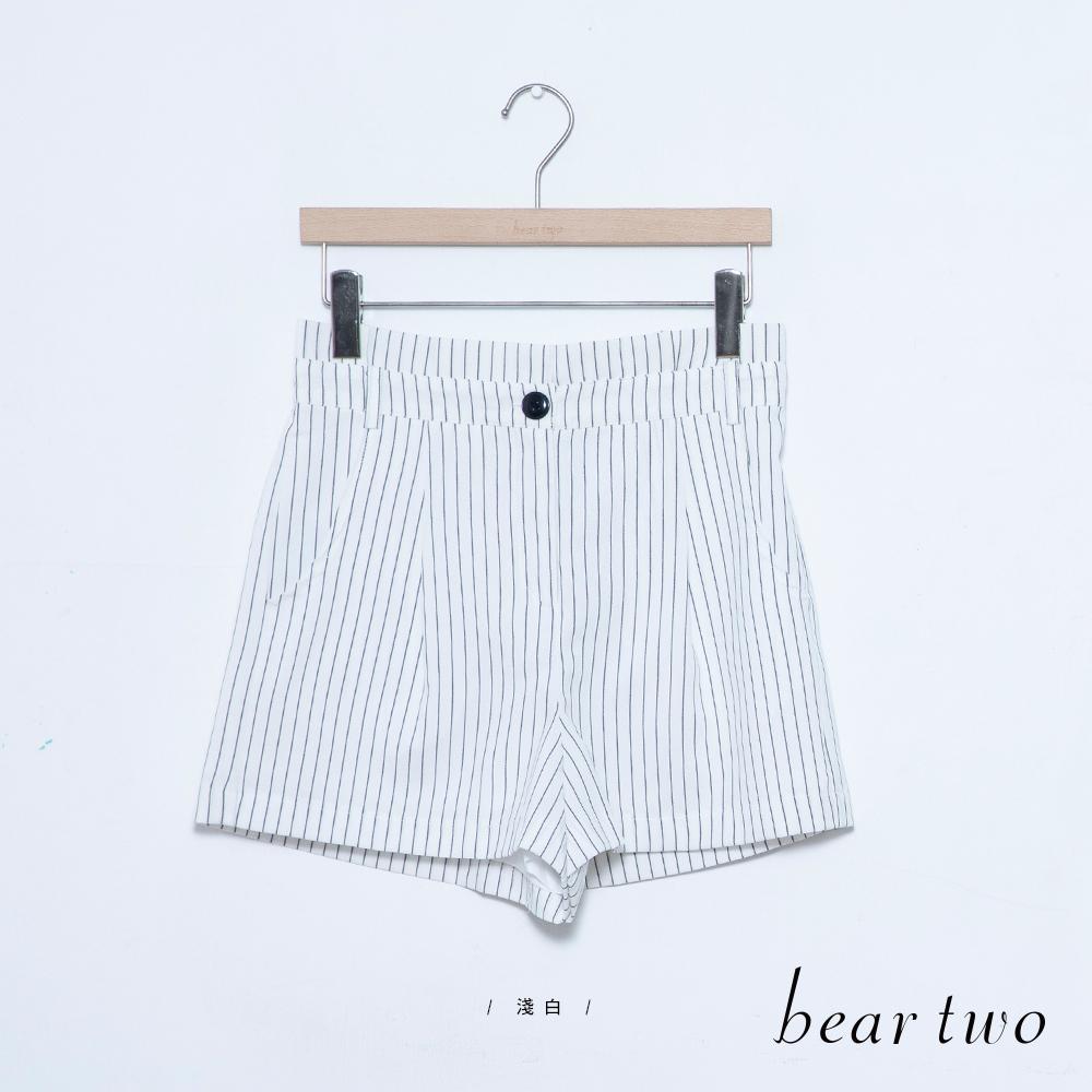 beartwo 細條紋A字短褲(三色)