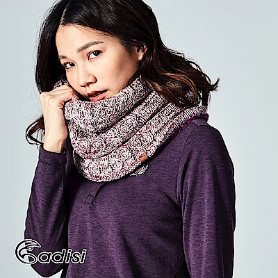 ADISI 美麗諾羊毛保暖長圍脖AS17101 | 金蔥/紫