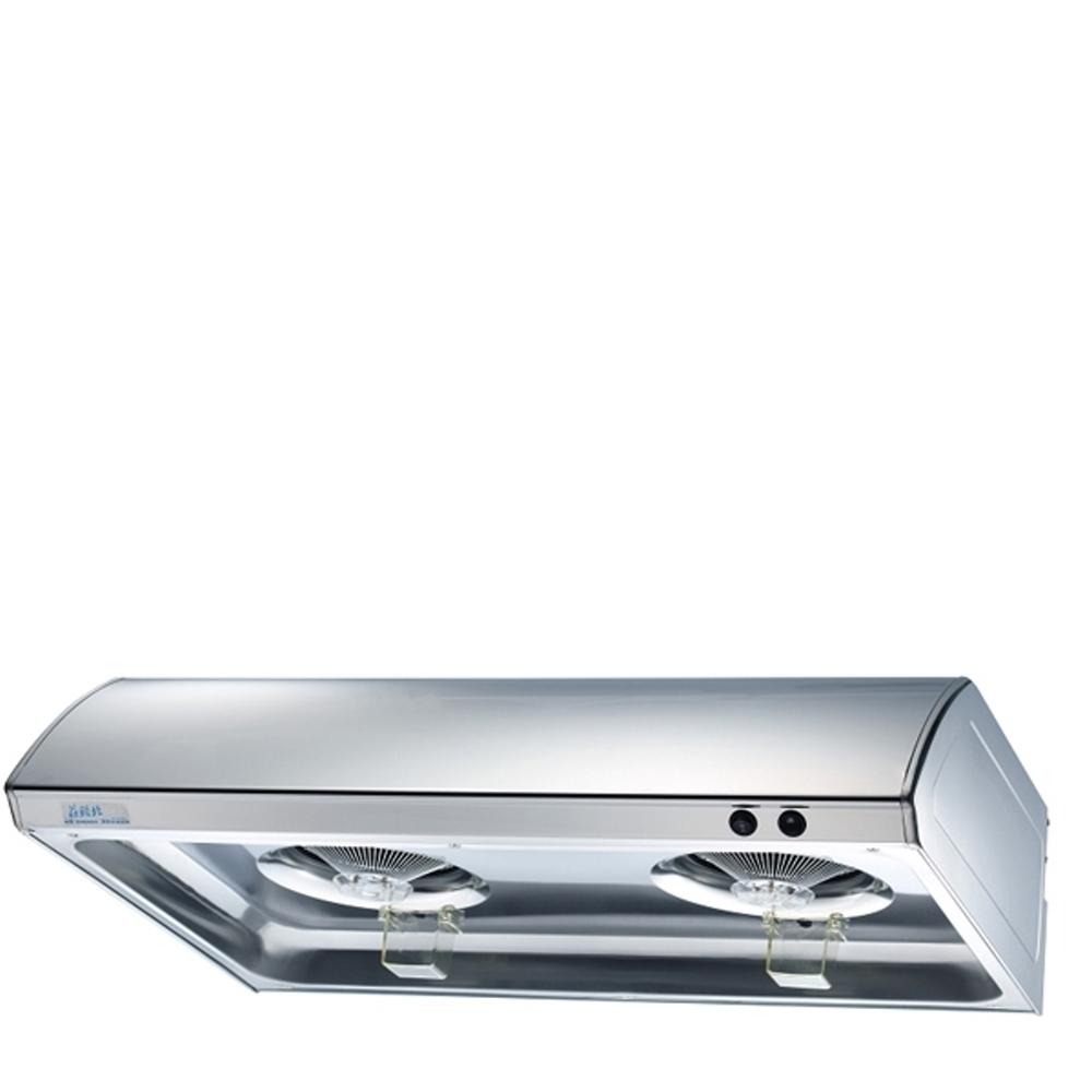 (全省安裝)莊頭北90公分單層式排油煙機不鏽鋼色TR-5195S-90CM