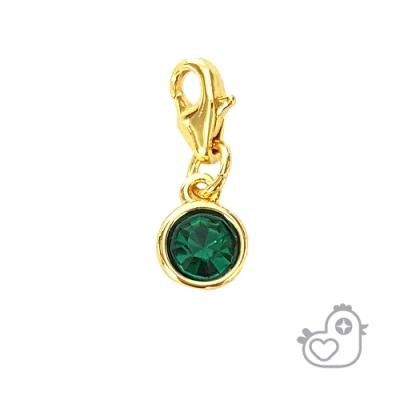 【彩糖鑽工坊】彩糖貝貝 綠色水晶水晶墜子 親子 閨蜜 彩糖貝貝繽紛寶石系列