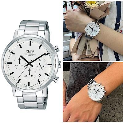 ALBA 雅柏 Prestige 時尚三眼計時腕錶(VD53-X296S)AT3D35X1
