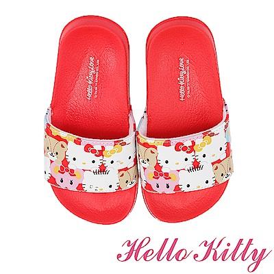 (雙11)HelloKitty 輕盈舒適室內外拖鞋童鞋-紅