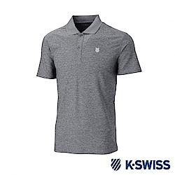 K-SWISS  PF Solid Polo排汗POLO衫-男-灰