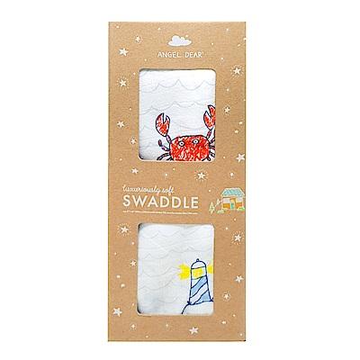 美國 Angel Dear 竹纖維嬰幼兒包巾禮盒 (小螃蟹)