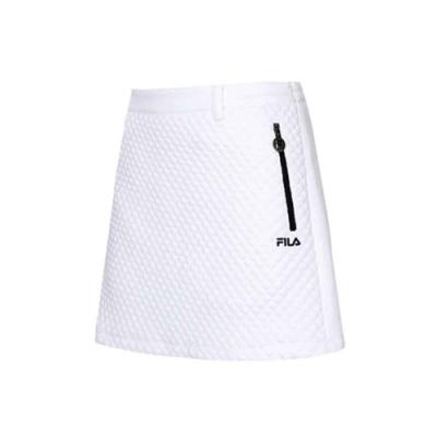 FILA 女吸濕排汗短裙-白色 5SKU-5498-WT