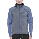 SUPERACE S.Café咖啡紗內刷毛保暖層跑步外套/男款/灰色