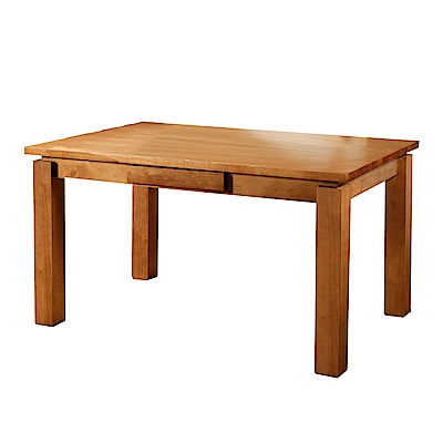 文創集 艾森時尚4.5尺實木餐桌(不含餐椅)-135x85x75cm免組