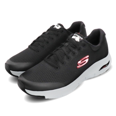 Skechers 慢跑鞋 Arch Fit 運動休閒 男鞋 路跑 輕量 健走 透氣 緩震 黑 紅 232040BKRD