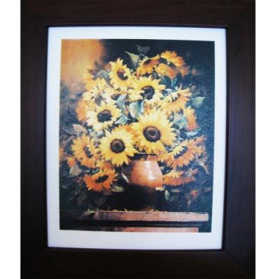 柔美系列 畫作--太陽花【好運向日葵】32x38cm