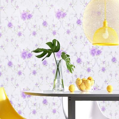 半島良品 防水PVC自黏牆紙45x200cm-浪漫紫花