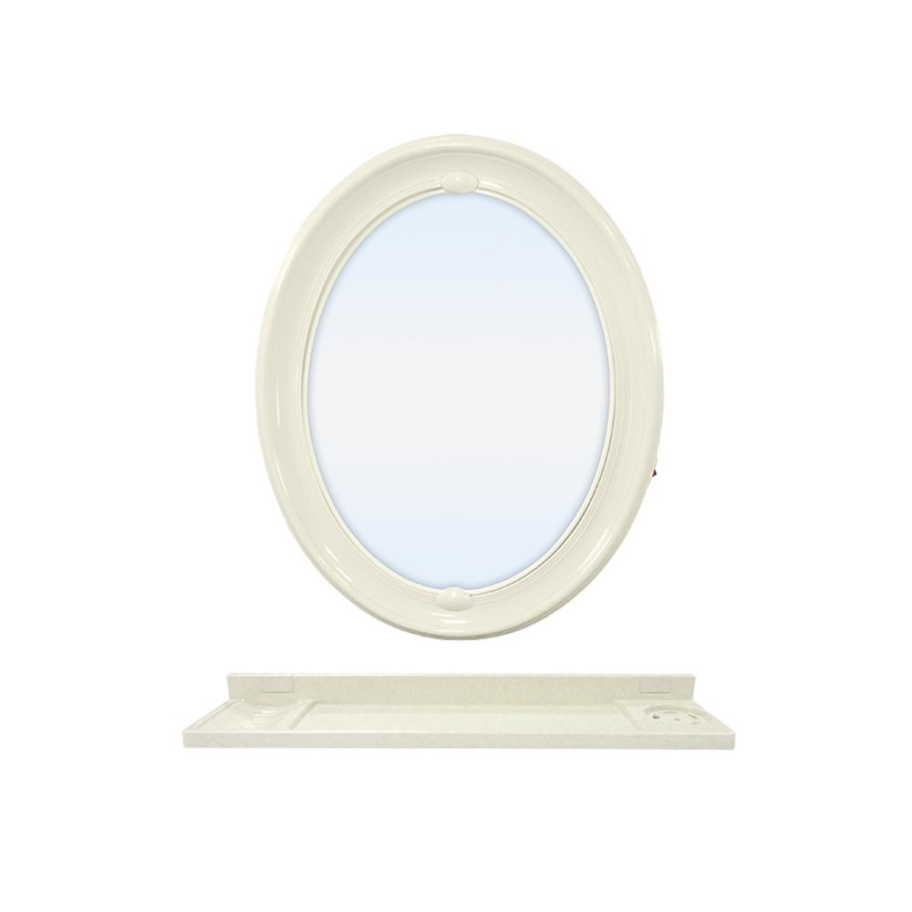 浴室壁式附置物檯防霧橢圓鏡