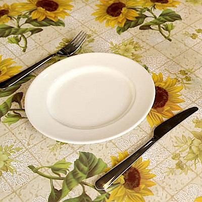 挪威森林 防水防油汙餐桌墊/野餐墊-法式田園手繪 向日葵花園137*137cm