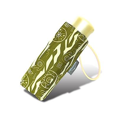 RAINSTORY 部落圖騰抗UV迷你口袋傘(綠)