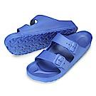BuyGlasses 輕量造型男生防水拖鞋-藍