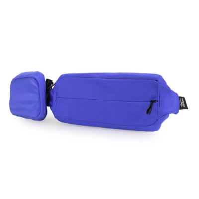 MIZUNO 腰包2pcs 藍螢光黃