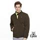 【Lynx Golf】男款防潑水防風保暖菱格紋剪接長袖外套-綠色 product thumbnail 2