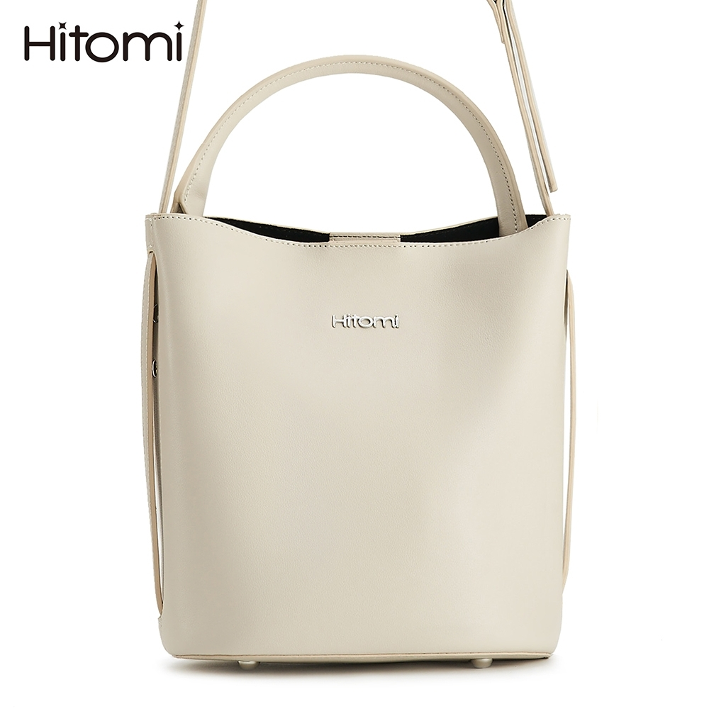 【Hitomi】蒲公英圓底水桶包(牛奶米白12197WH)