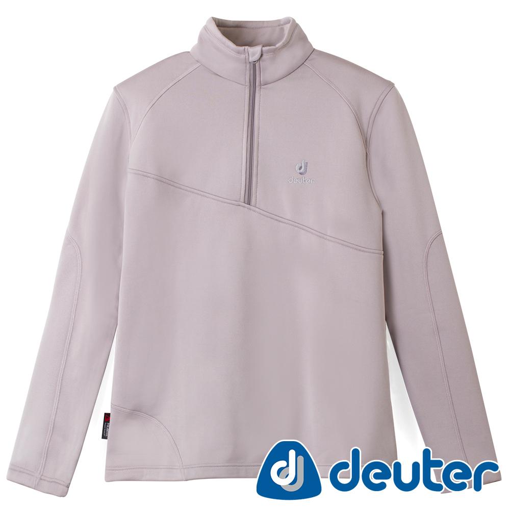 【deuter德國】男款彈性保暖吸溼排汗長袖POLO衫DE-P1108M灰
