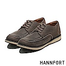 HANNFORT CANYON牛皮車縫休閒氣墊鞋-男-沈穩咖