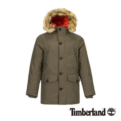 Timberland 男款葡萄葉綠連帽防水鋪棉夾克 A21F9
