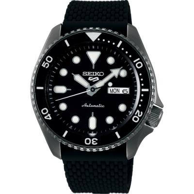 SEIKO 精工 5 Sports 系列機械錶(SRPD65K2)-鍍黑/42.5mm