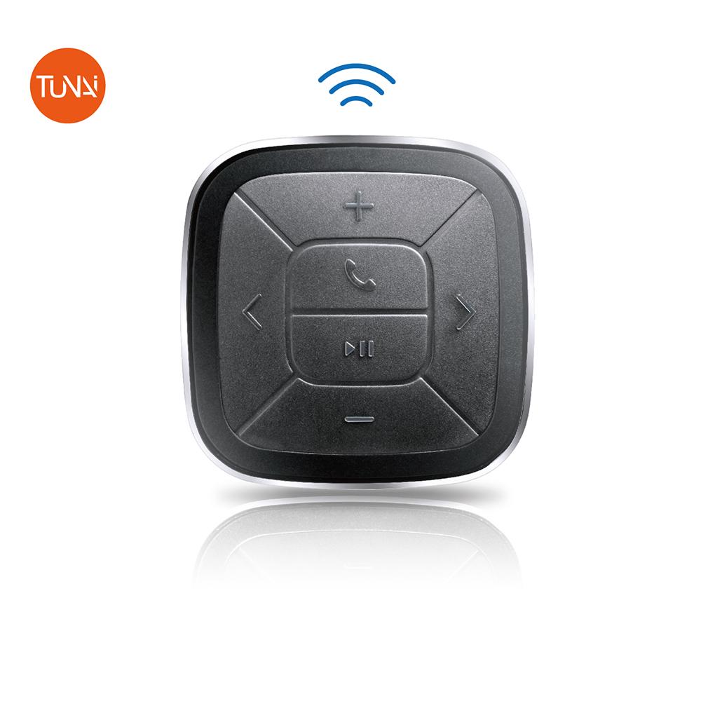 【TUNAI】BUTTON 藍牙手機遙控器(附汽車/單車固定座)