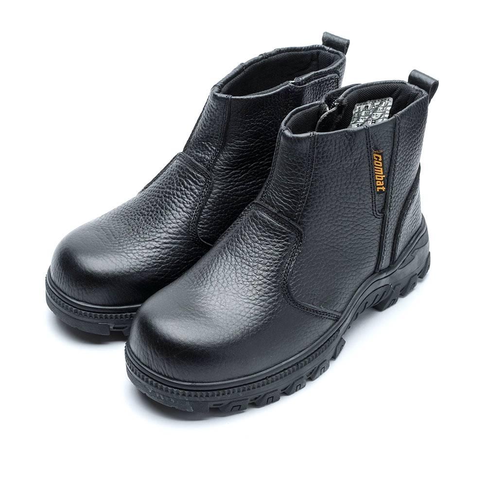 COMBAT艾樂跑男鞋-綁帶皮質工作鞋 鋼頭鞋-黑(FA499) product image 1