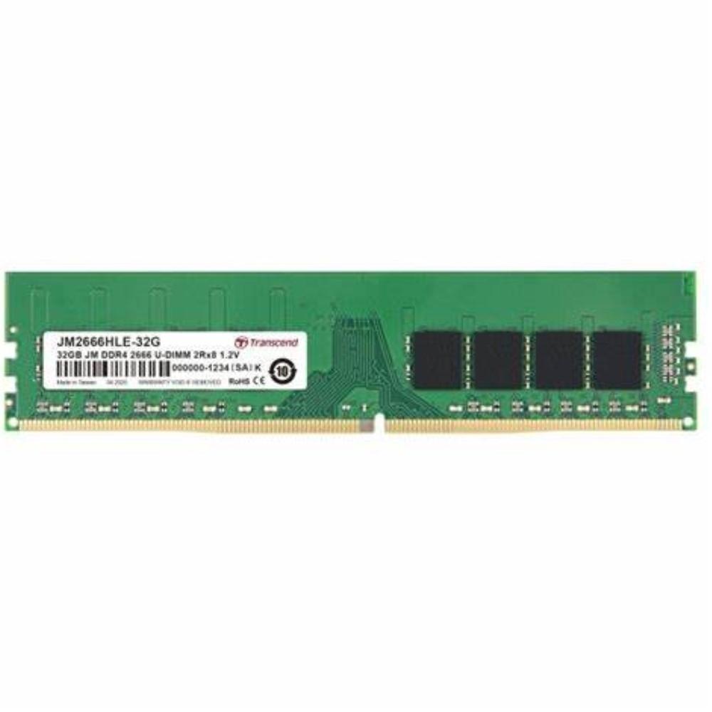 Transcend創見 JetRAM  DDR4-2666MHz 32GB 桌上型記憶體