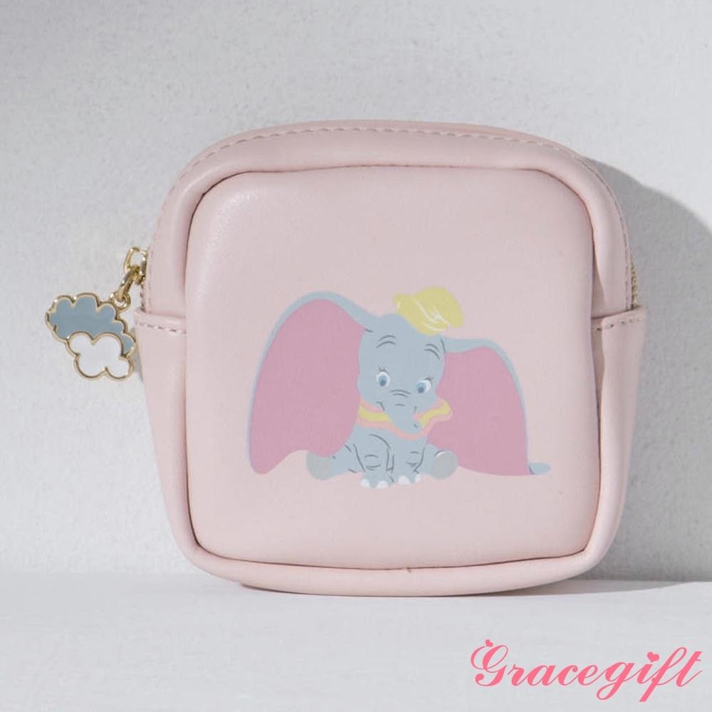 Disney collection by gracegift-迪士尼櫻花粉嫩方形零錢包 粉