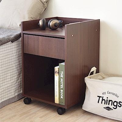 《HOPMA》DIY巧收單抽活動桌邊櫃/抽屜櫃/收納櫃-寬40 x深40 x高59.5cm