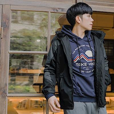 防潑水極度保暖拼接衝鋒衣-OB大尺碼