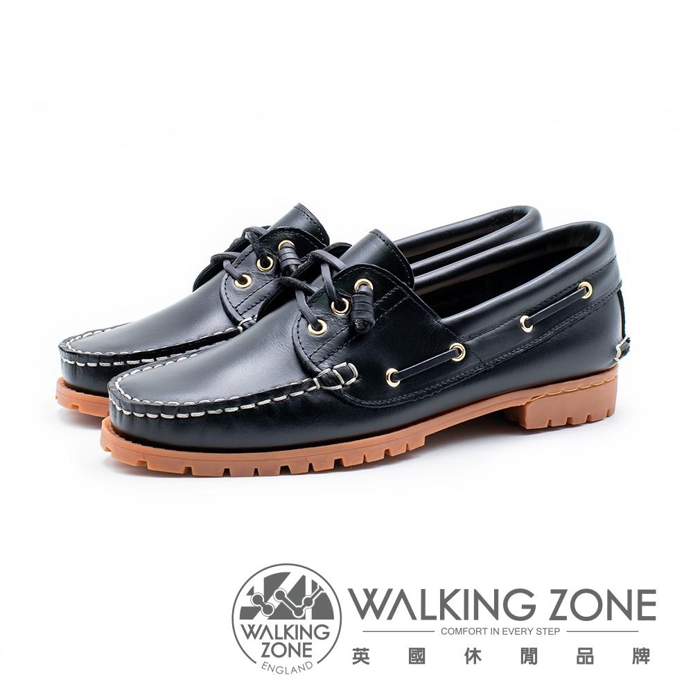 WALKING ZONE 經典款 帆船雷根鞋 男鞋 黑藍(另有咖啡)